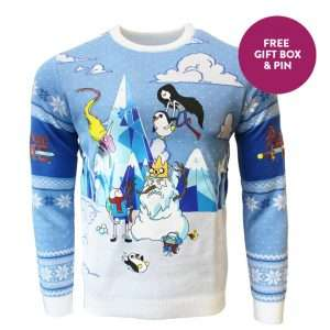 Adventure Time Festive Winter Christmas Jumper / Ugly Sweater