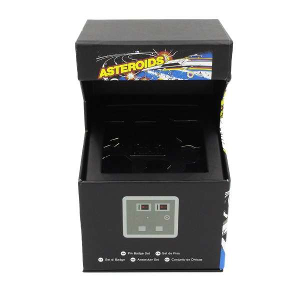 Asteroids Arcade Pin Badge Set