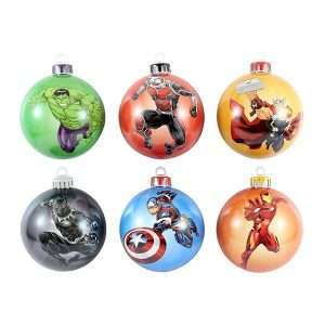 the avengers bauble christmas tree ornament pack