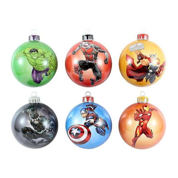 The Avengers Bauble / Christmas Tree Ornament Pack