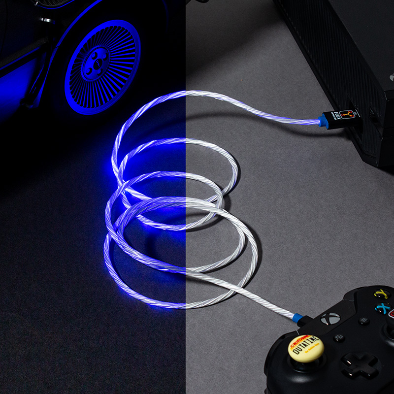 Official Back To The Future Micro-USB LED Charge Cable (PS4 and Xbox One)