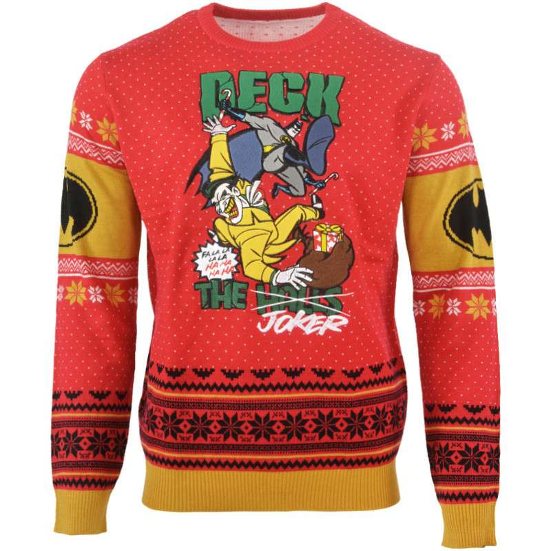 Batman Christmas.Batman Deck The Joker Christmas Jumper Ugly Sweater