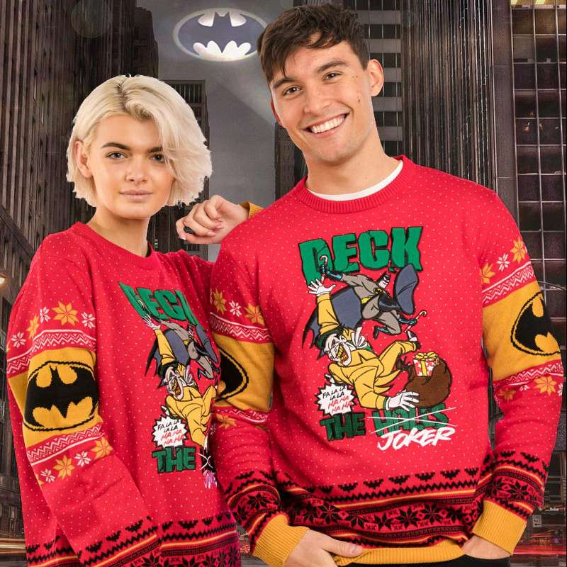 Batman 'Deck The Joker' Christmas Jumper / Ugly Sweater