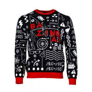 Official The Big Bang Theory 'Bazinga' Christmas Jumper / Ugly Sweater