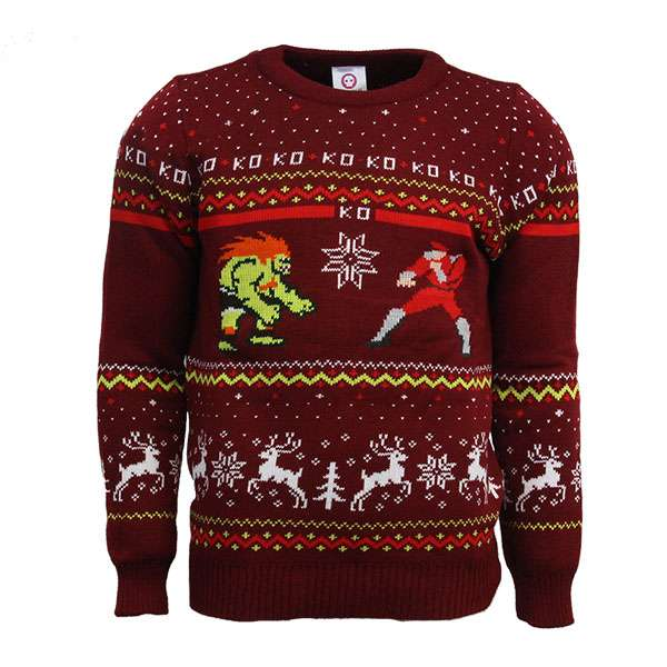 Street Fighter Blanka Vs. M.Bison Christmas Jumper / Sweater