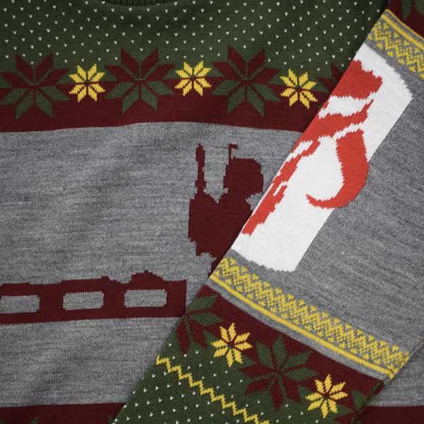 UK L//US M Green Official Star Wars Boba Fett Nordic Christmas Jumper//Ugly Sweater
