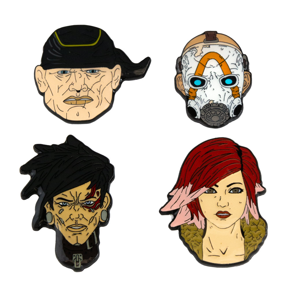 Borderlands 3 Collector's Pin Badge Set