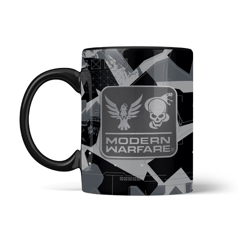 Call of Duty Modern Warfare Metal Badge Mug