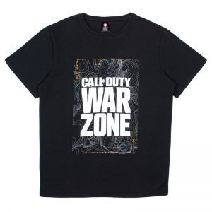 Call Of Duty Warzone Black Map T-Shirt
