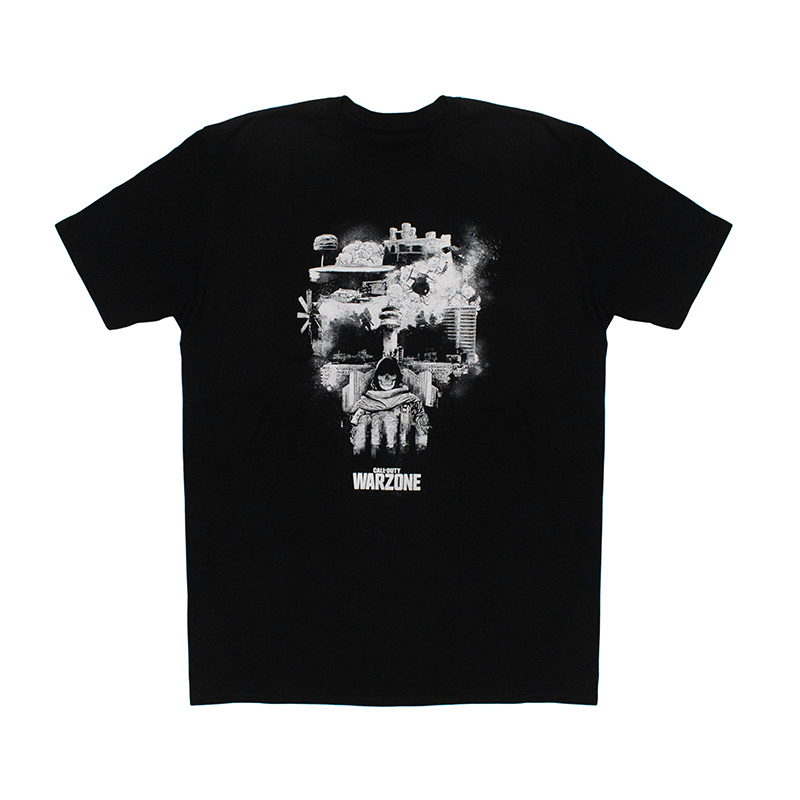 Fashion UK T-Shirt Call of Duty Warzone Teschio Skull WZ Originale Ufficiale Nera Adulto e Ragazzo