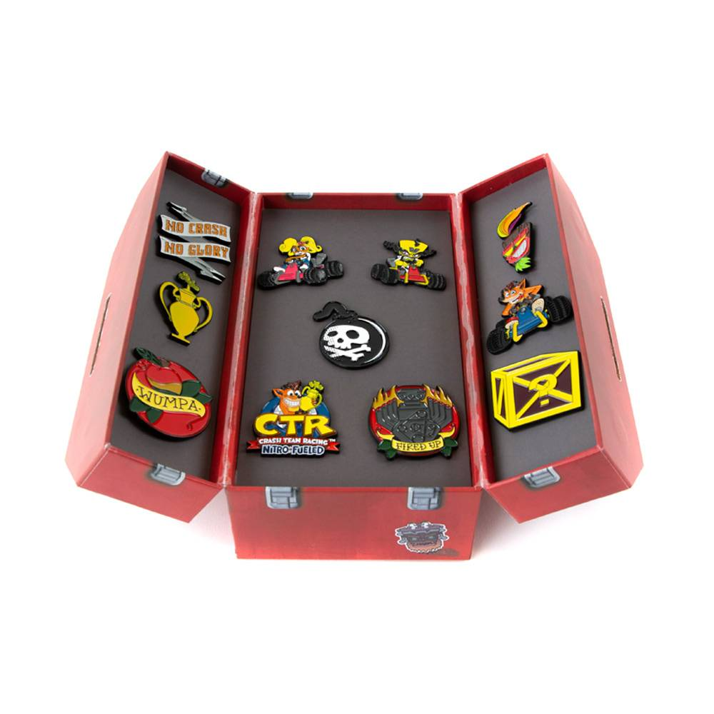 Crash Team Racing Nitro-Fueled Toolbox Pin Badge Set - Numskull