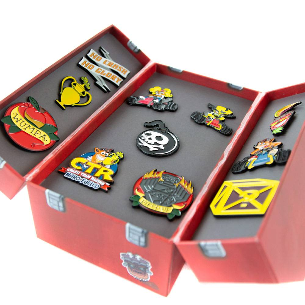 Crash Team Racing Nitro-Fueled Toolbox Pin Badge Set
