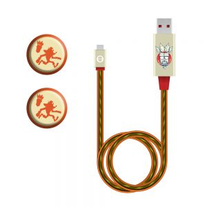 Crash Bandicoot LED Light Micro-USB Cable and Thumb Grips