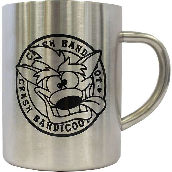 Crash Bandicoot Steel Mug
