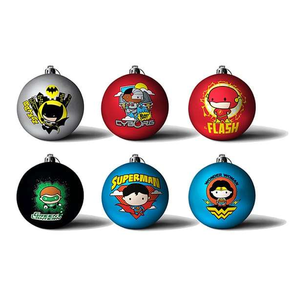 DC Comics 'Chibbi' Baubles / Christmas Tree Ornament Pack