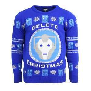 Doctor Who Cyberman Christmas Jumper / Sweater