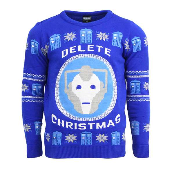 Official Cyberman Doctor Who Christmas Jumper / Sweater