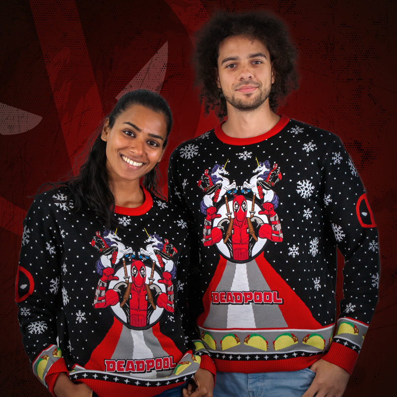 Deadpool Unicorn Christmas Jumper / Ugly Sweater