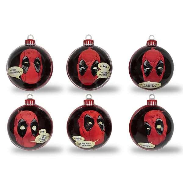 Deadpool Bauble / Christmas Tree Ornament Pack