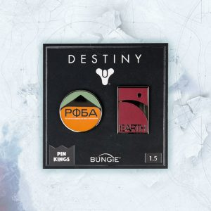 Pin Kings Destiny Enamel Pin Badge Set 1.5 – PФБA and Earth