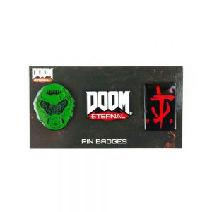 DOOM Pin Badge Trio