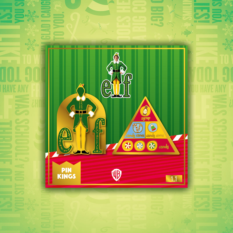 Pin Kings Elf Enamel Pin Badge Set 1.1