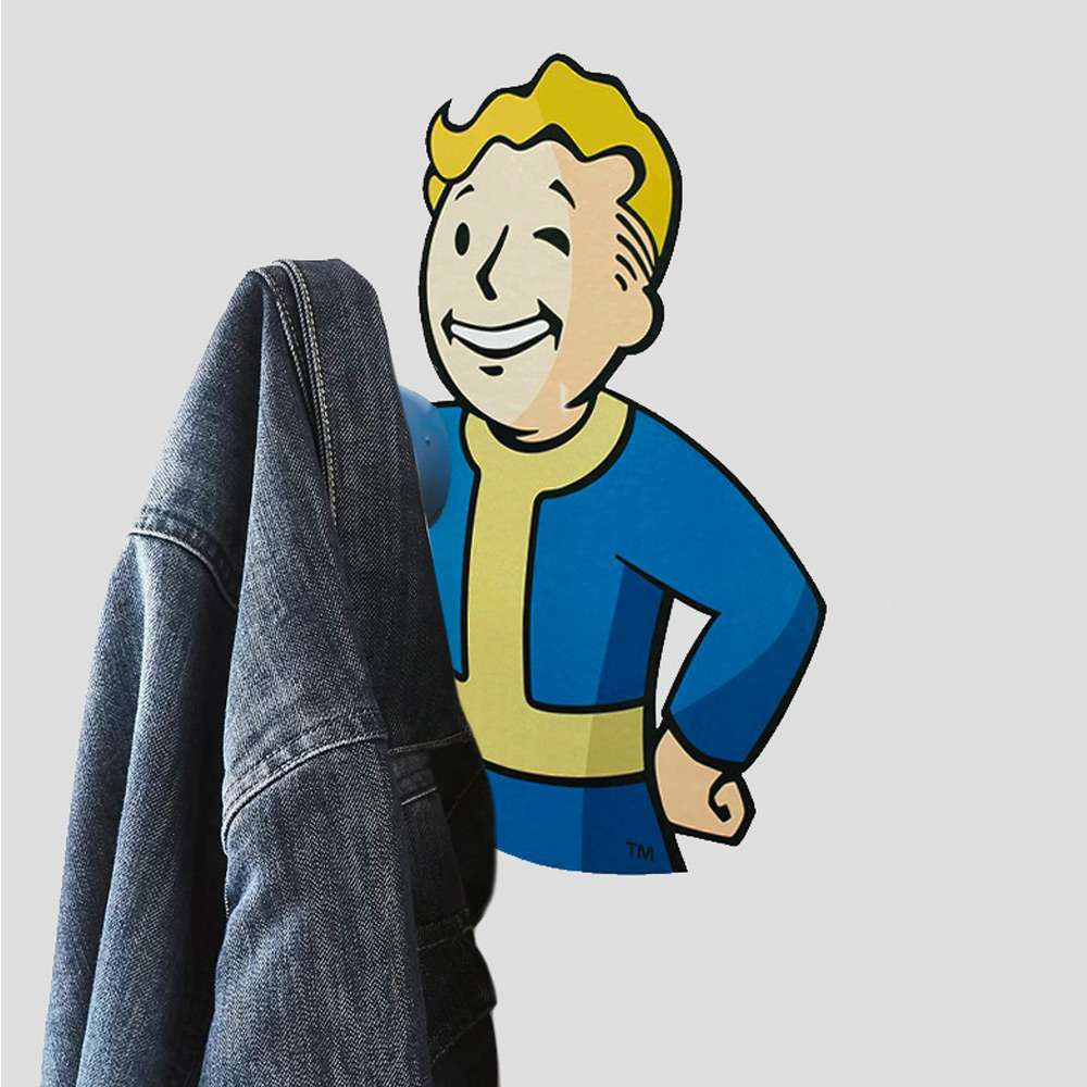 Official Fallout 76 3D Vault Boy Coat Hooks (2 Pack)