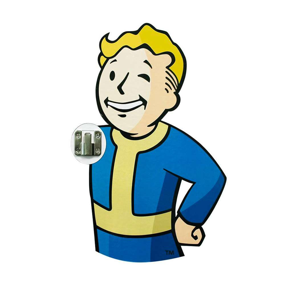 Official Fallout 76 3d Vault Boy Coat Hooks 2 Pack