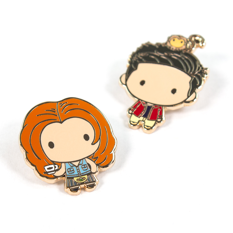 Pin Kings Friends Enamel Pin Badge Set 1.1 – Rachel & Ross