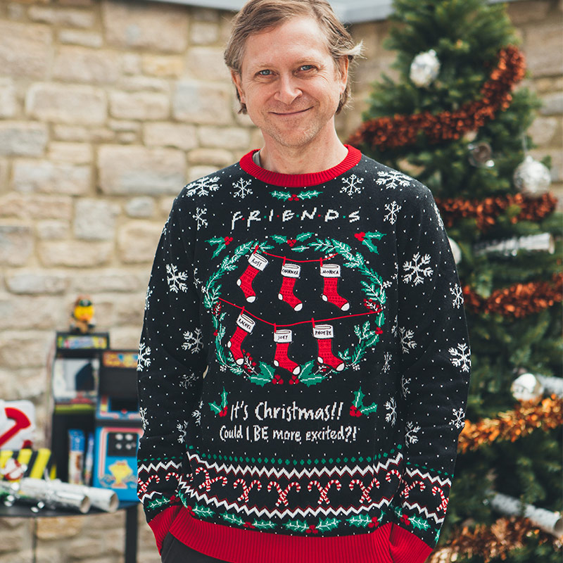 Official Friends 'Could I BE More Excited' Christmas Jumper / Ugly Sweater