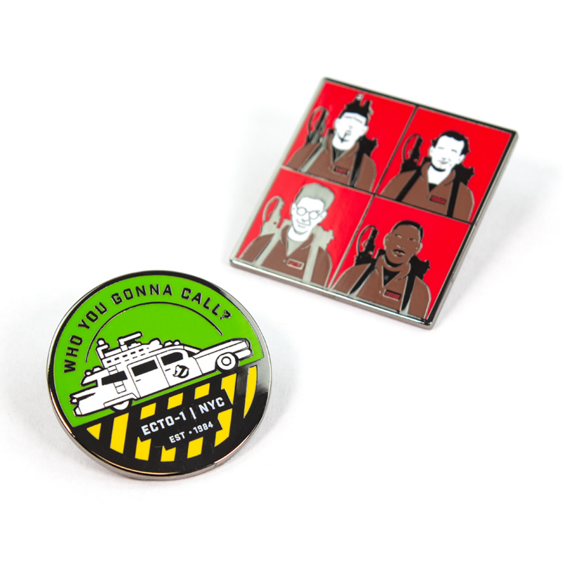 Pin Kings Ghostbusters Enamel Pin Badge Set 1.3 – Who You Gonna Call? & Characters