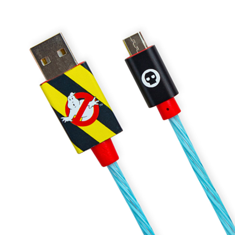 Ghostbusters Micro-USB LED Charge Cable & Thumb Grips