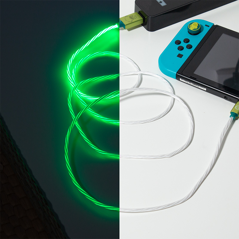 Official The Grinch USB C LED Charge Cable & Thumb Grips (Xbox Series X & Series S, PS5 and Nintendo Switch)