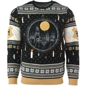 Harry Potter Hogwarts Castle Light Up LED Christmas Jumper / Ugly Sweater