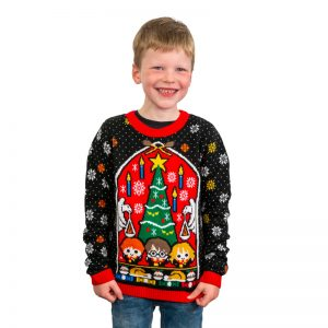 Harry Potter Great Hall Kids Christmas Jumper / Ugly Sweater