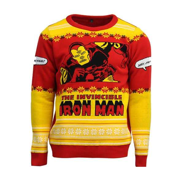 Iron Man 'Yay, Iron Man!' Christmas Jumper / Sweater