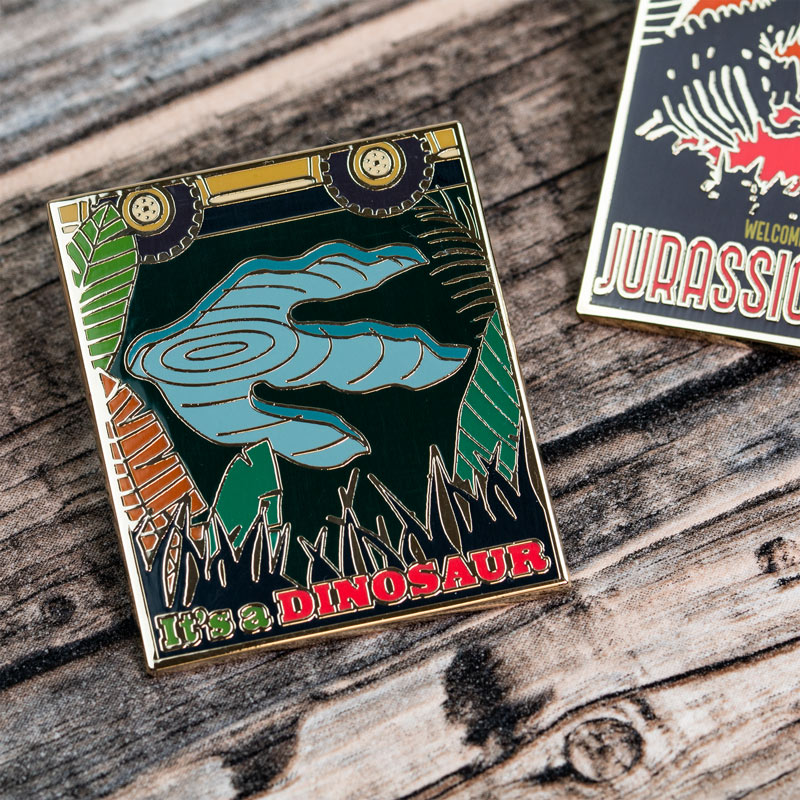 Pin Kings Jurassic Park Enamel Pin Badge Set 1.2