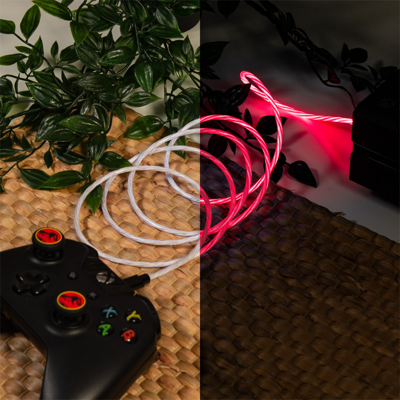 Official Jurassic Park Micro-USB LED Charge Cable & Thumb Grips (PS4 and Xbox One)