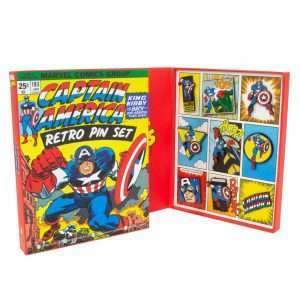 Avengers Captain America Retro Pin Badge Set
