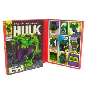 Avengers Hulk Retro Pin Badge Set