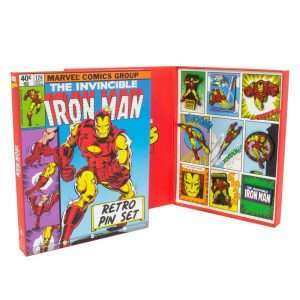 Avengers Iron Man Retro Pin Badge Set