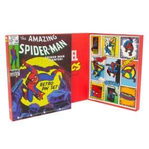 Avengers Spider-Man Retro Pin Badge Set