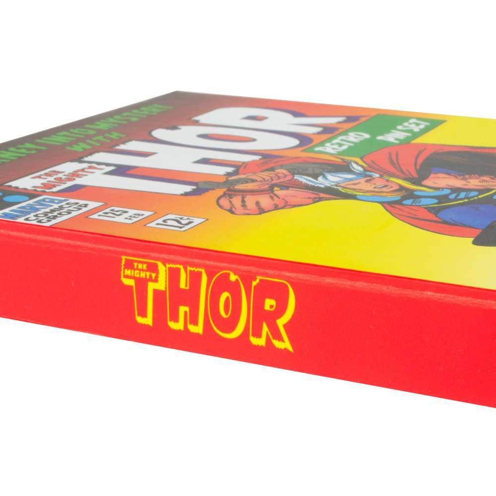 Official Marvel Thor Retro Pin Badge Set