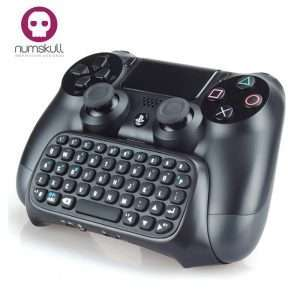Numskull PlayStation 4 PS4 Bluetooth Wireless Mini Keyboard / Chatpad