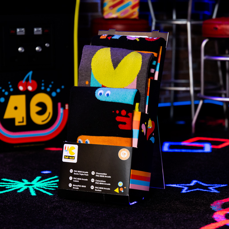 PAC-MAN 40th Anniversary Socks Pack
