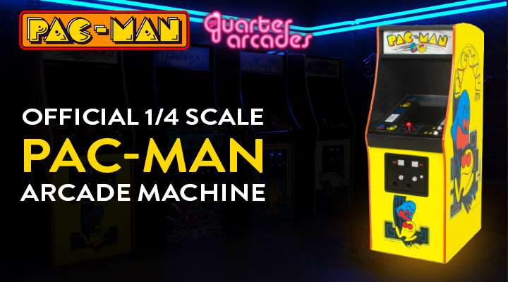Official 1/4 PAC-MAN Arcade Machine