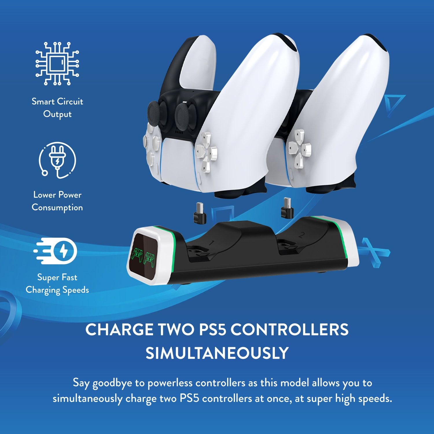 Numskull PlayStation 5 / PS5 Fast Charge Twin Charging Dock