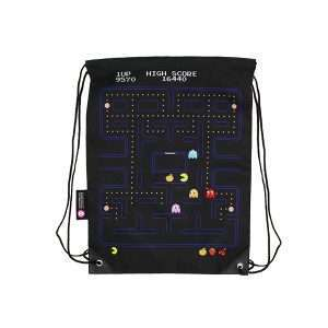 Pac-Man Gameplay Drawstring Bag