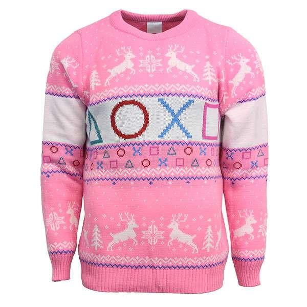PlayStation Pink Symbols Christmas Jumper / Sweater