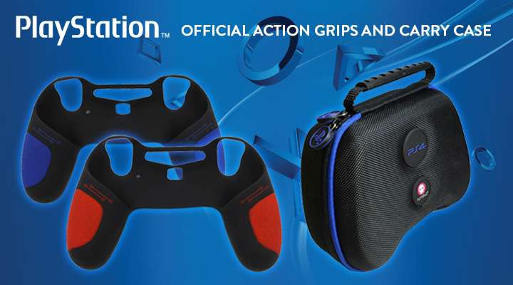 Official PlayStation Action Grips and Carry Case